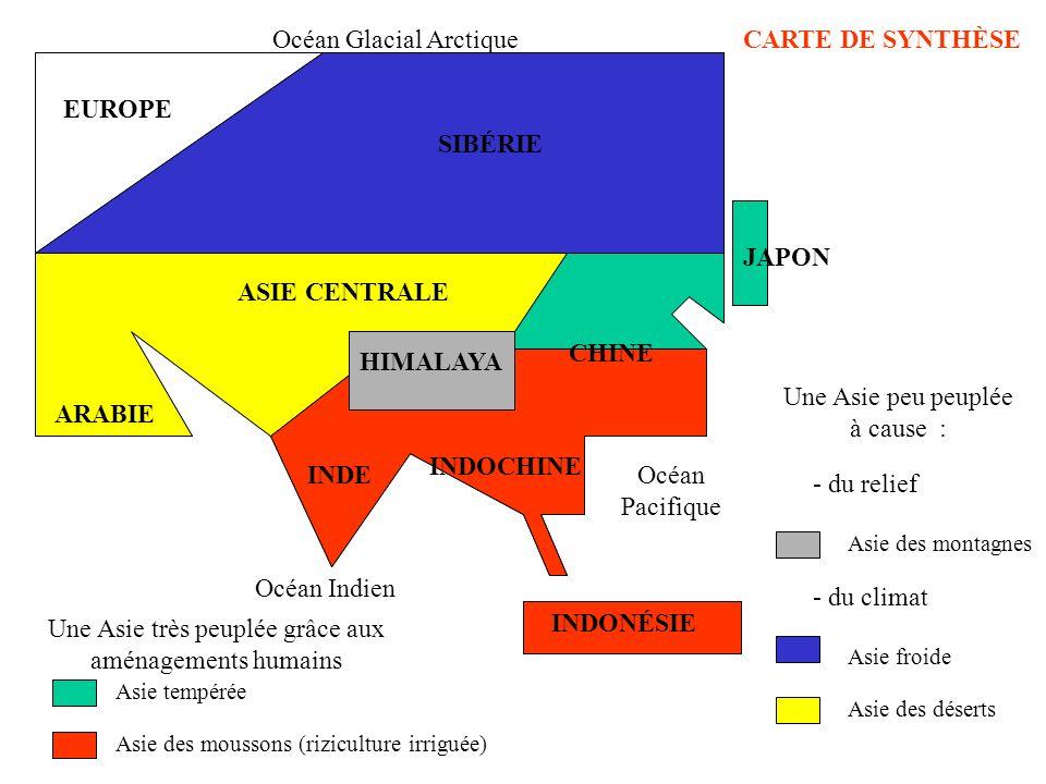 Océan Glacial Arctique CARTE DE SYNTHÈSE