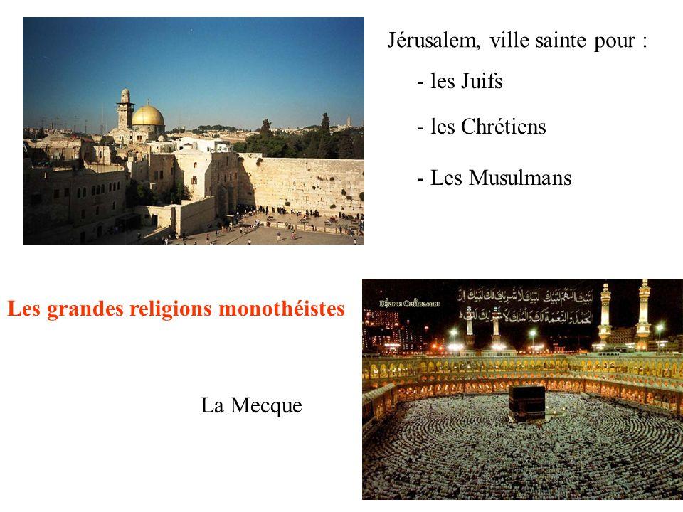 Jérusalem, ville sainte pour :