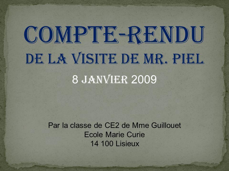 Par la classe de CE2 de Mme Guillouet