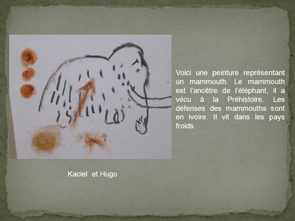 Voici une peinture représentant un mammouth