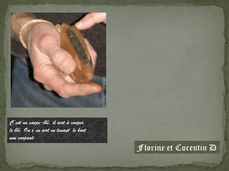 Florine et Corentin D C'est un coupe-blé, il sert à couper