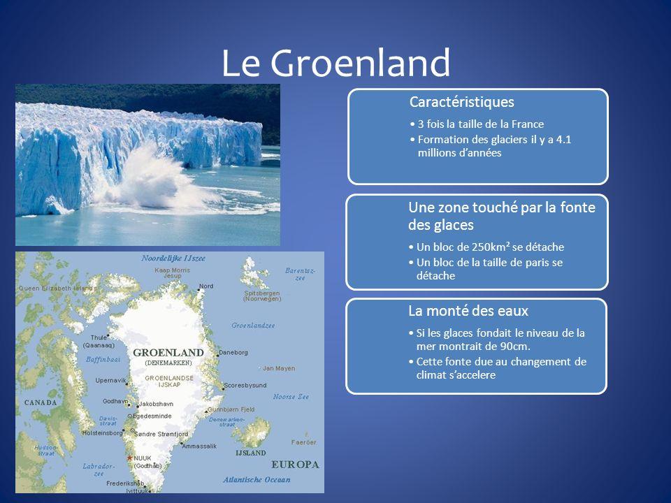 Le Groenland Caractéristiques 3 fois la taille de la France