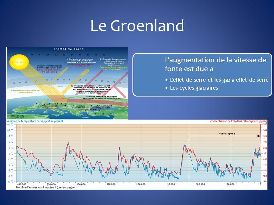 Le Groenland L'augmentation de la vitesse de fonte est due a