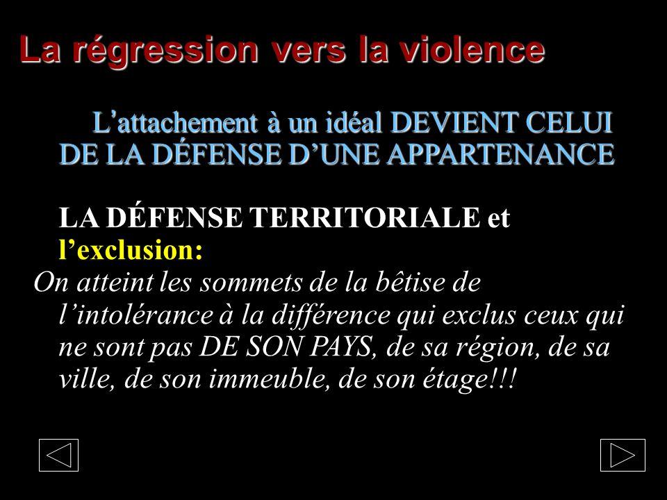 La régression vers la violence