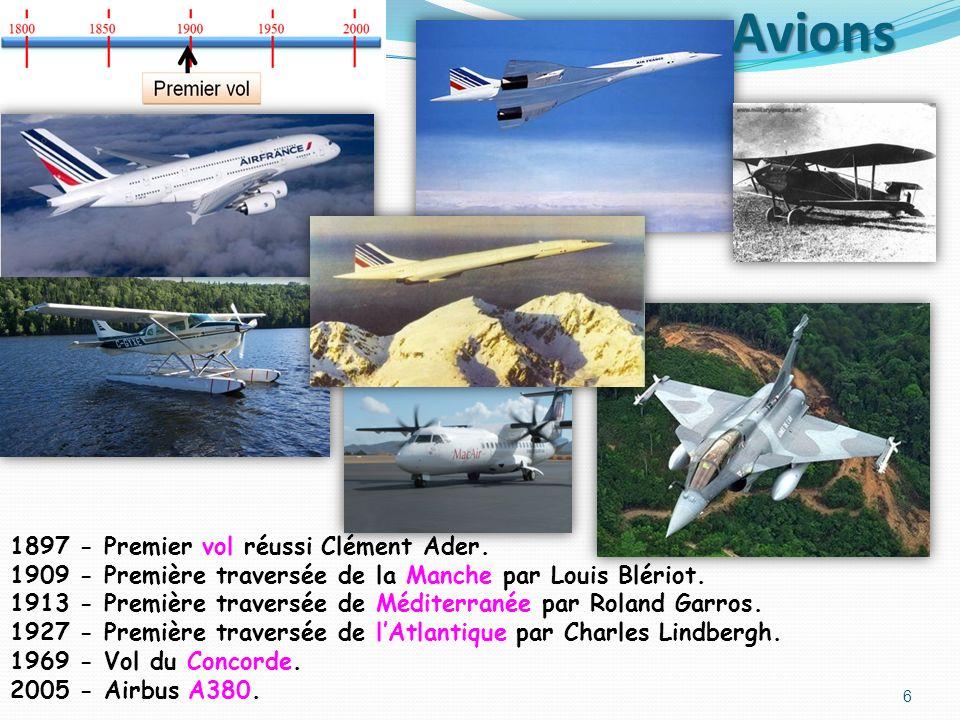 Avions 1897 - Premier vol réussi Clément Ader.