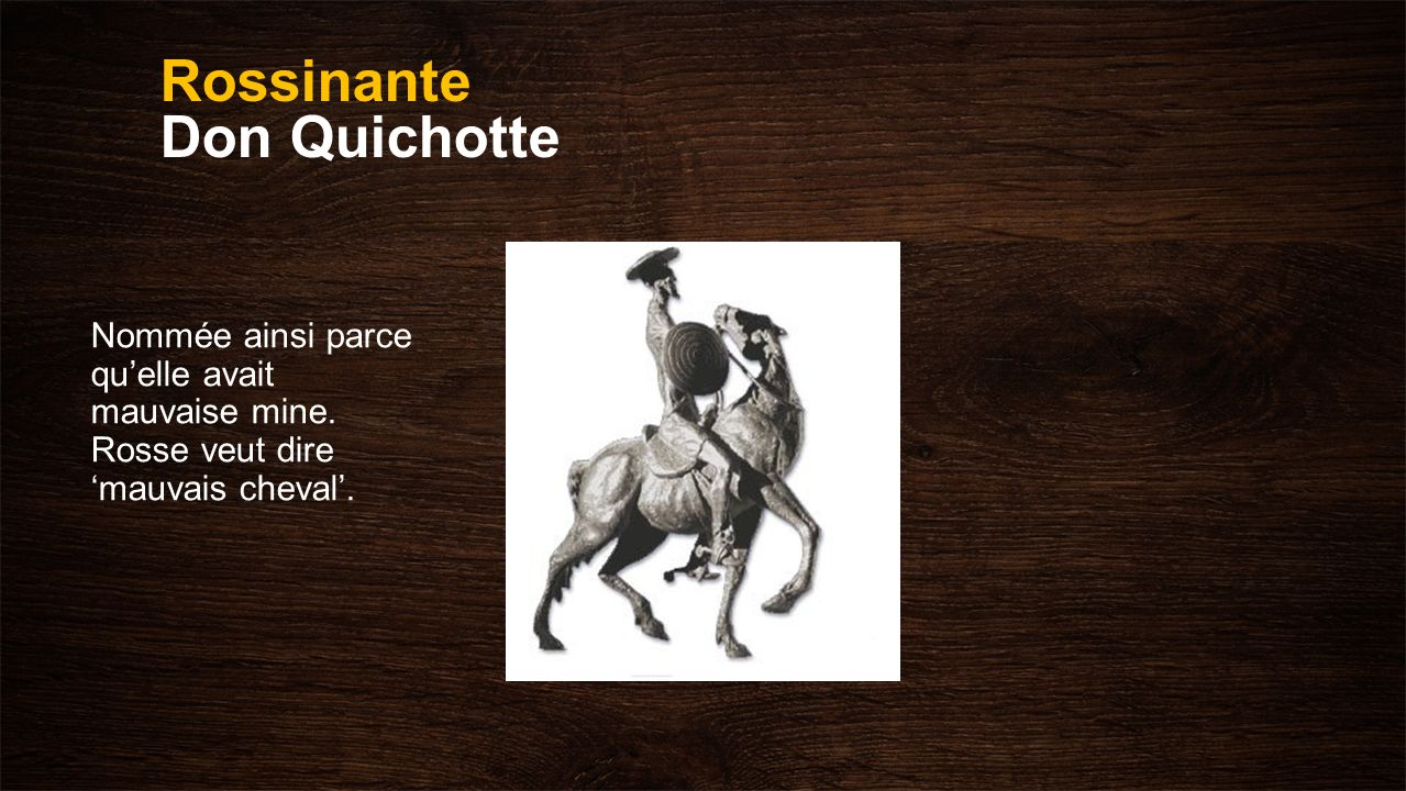 Rossinante Don Quichotte