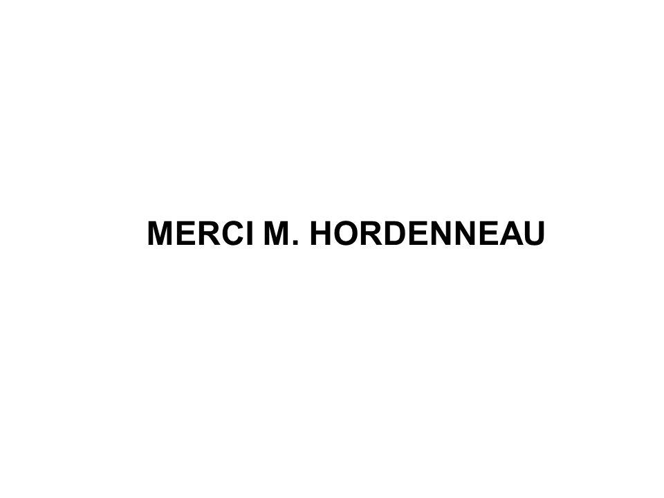MERCI M. HORDENNEAU