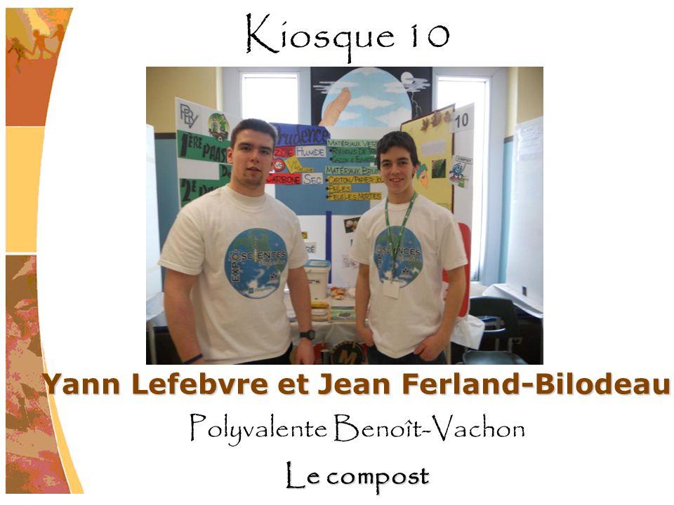 Yann Lefebvre et Jean Ferland-Bilodeau