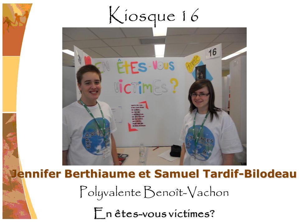Jennifer Berthiaume et Samuel Tardif-Bilodeau