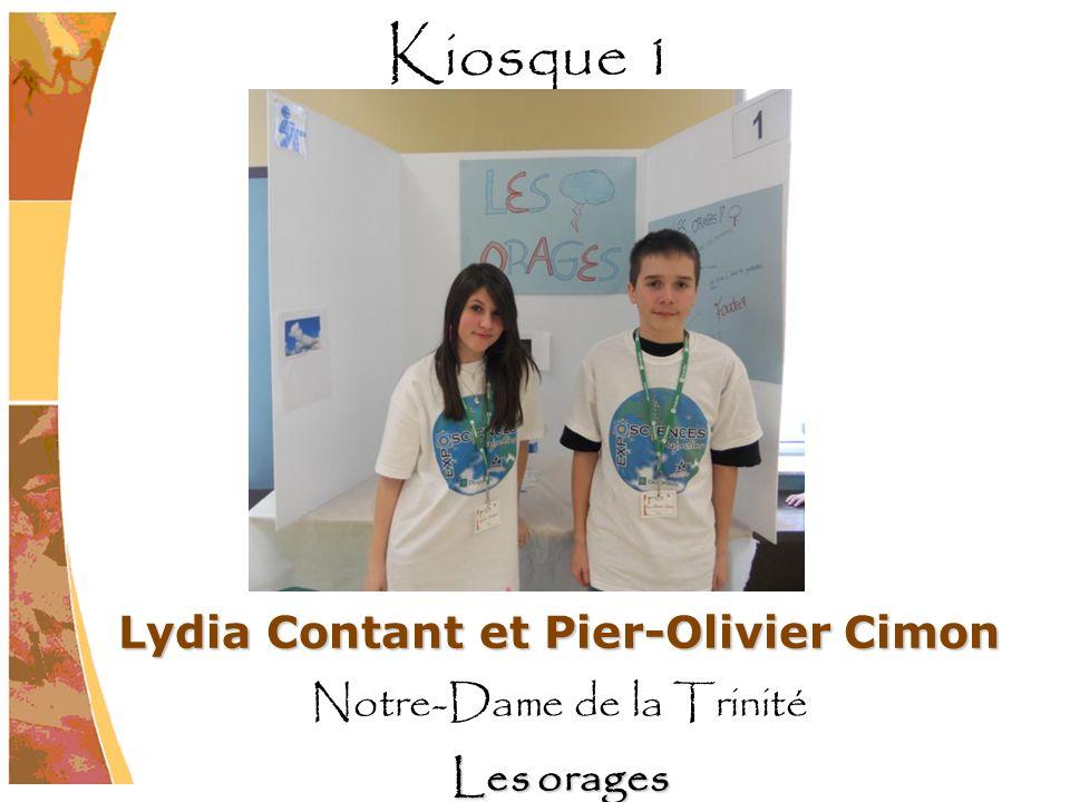 Lydia Contant et Pier-Olivier Cimon