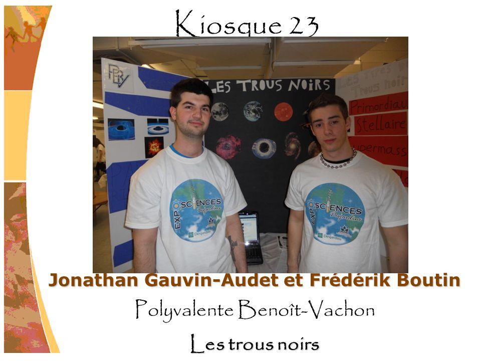 Jonathan Gauvin-Audet et Frédérik Boutin