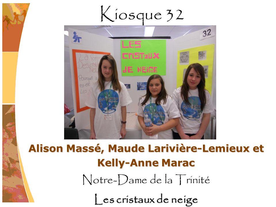 Alison Massé, Maude Larivière-Lemieux et Kelly-Anne Marac