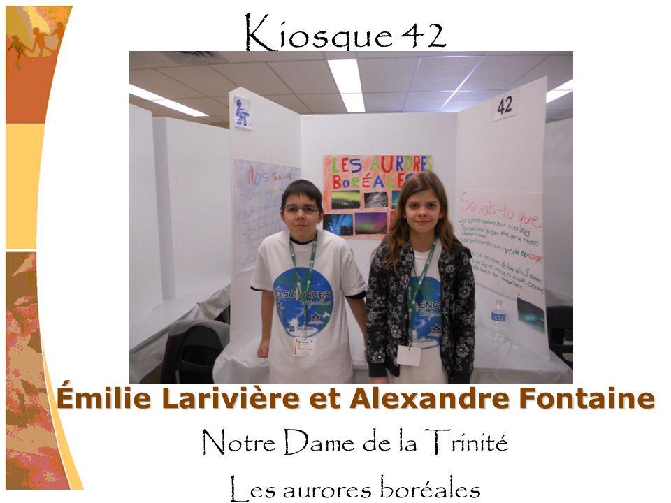 Émilie Larivière et Alexandre Fontaine