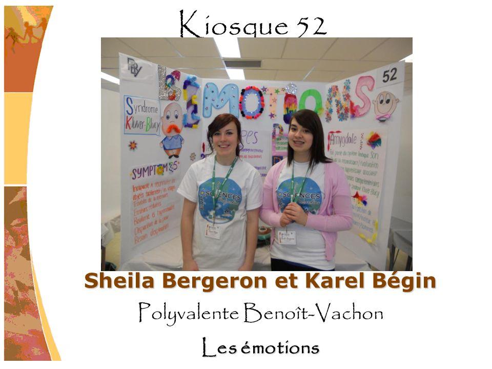 Sheila Bergeron et Karel Bégin