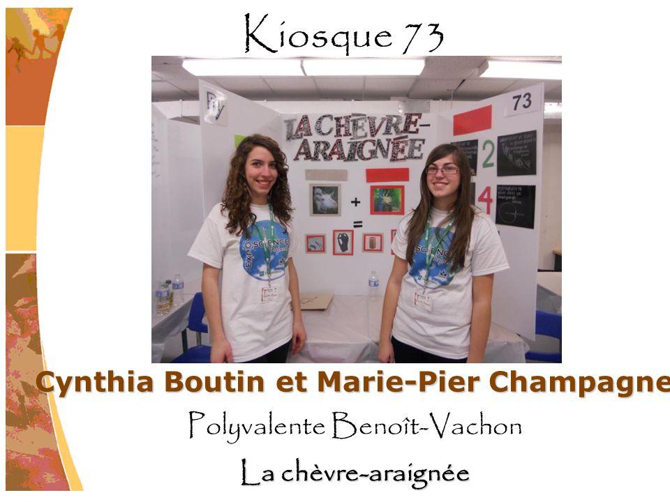 Cynthia Boutin et Marie-Pier Champagne