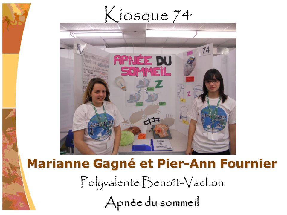 Marianne Gagné et Pier-Ann Fournier