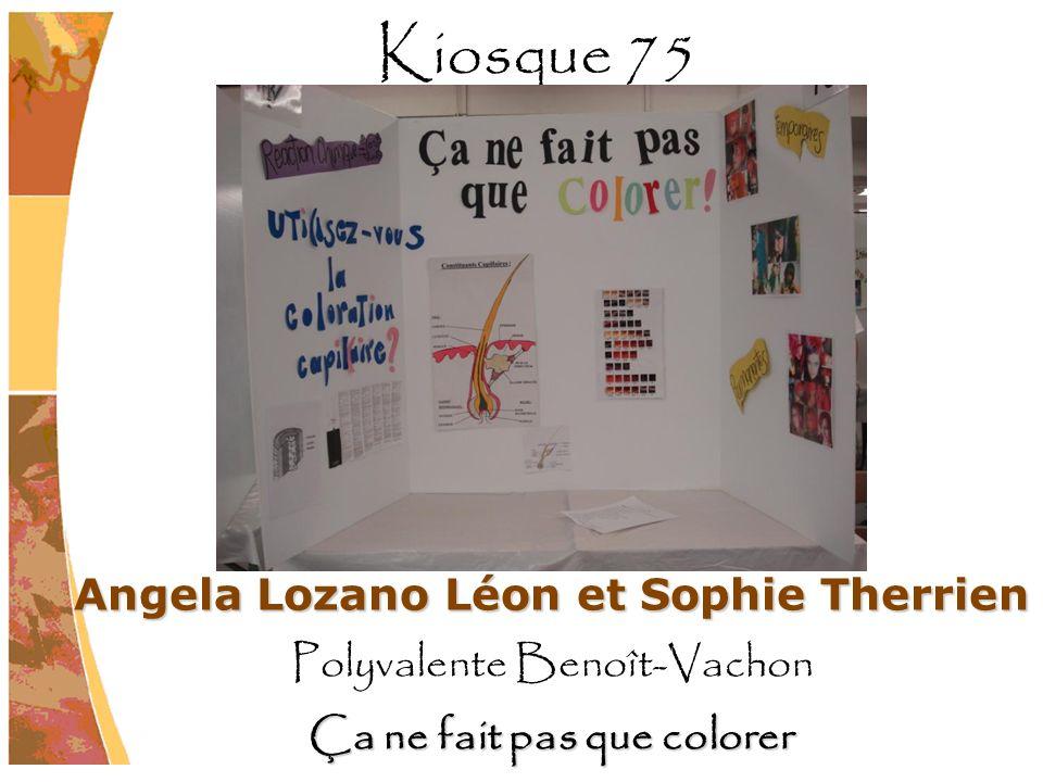 Angela Lozano Léon et Sophie Therrien Ça ne fait pas que colorer
