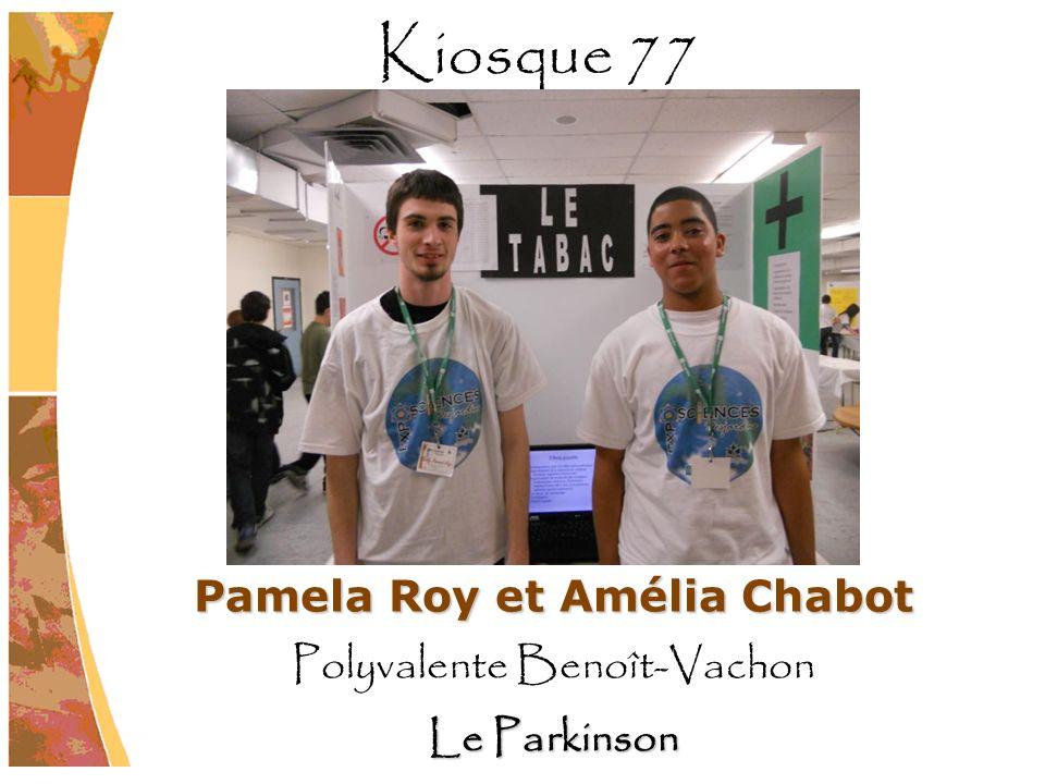 Pamela Roy et Amélia Chabot
