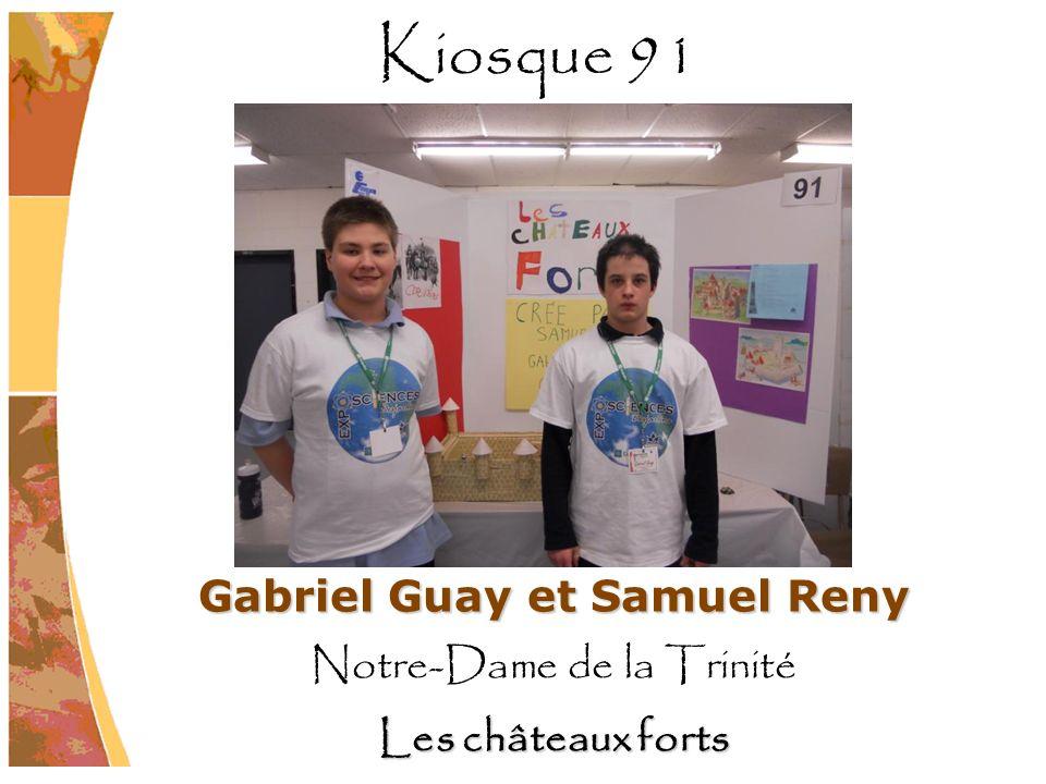 Gabriel Guay et Samuel Reny