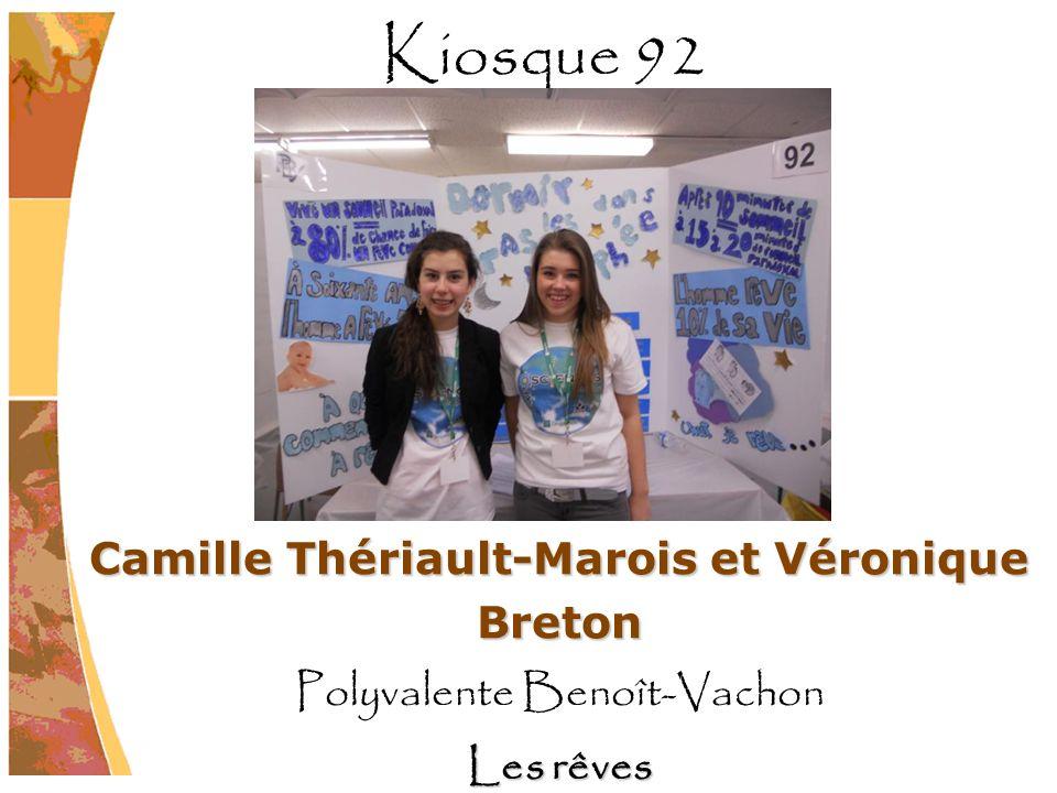 Camille Thériault-Marois et Véronique Breton