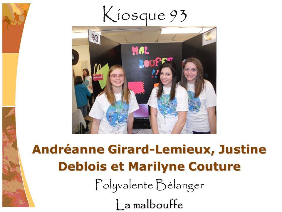 Andréanne Girard-Lemieux, Justine Deblois et Marilyne Couture
