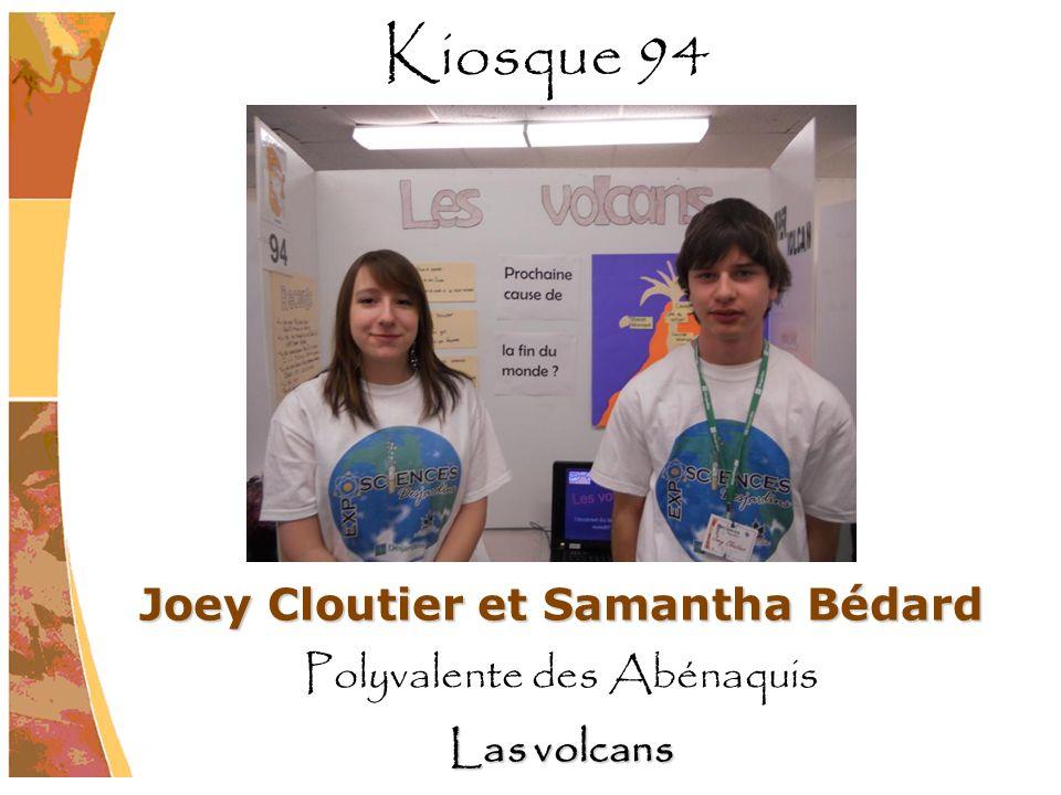 Joey Cloutier et Samantha Bédard