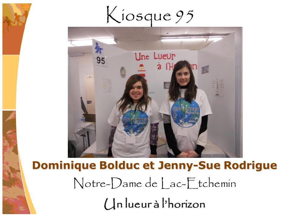 Dominique Bolduc et Jenny-Sue Rodrigue