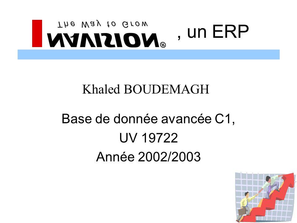 Base de donnée avancée C1, UV 19722 Année 2002/2003