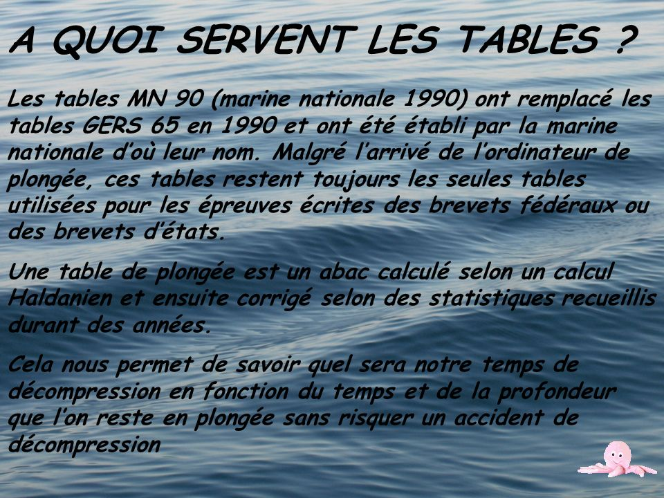 A QUOI SERVENT LES TABLES