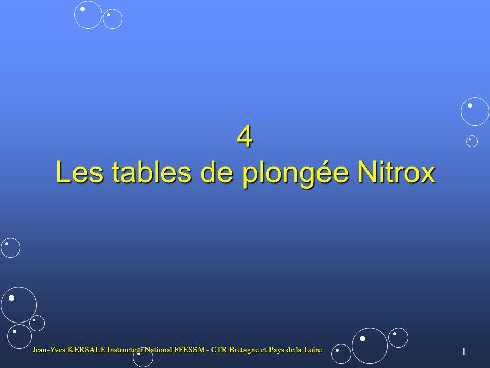 4 Les tables de plongée Nitrox