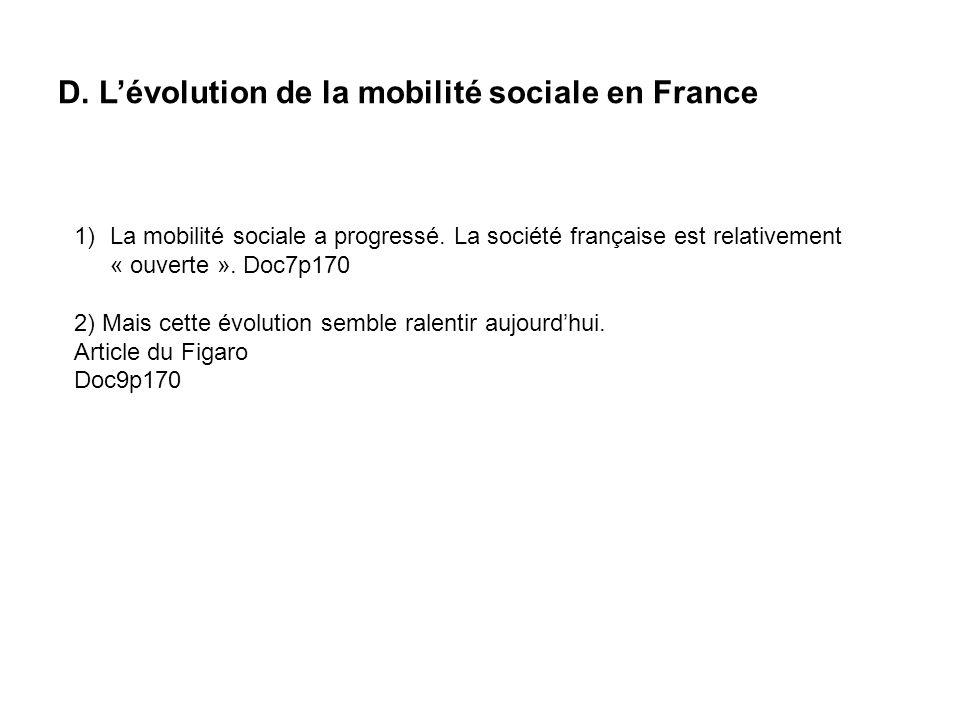 D. L'évolution de la mobilité sociale en France