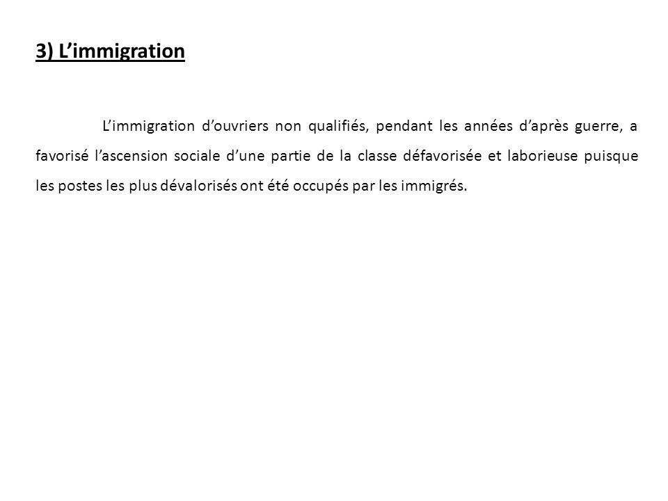 3) L'immigration