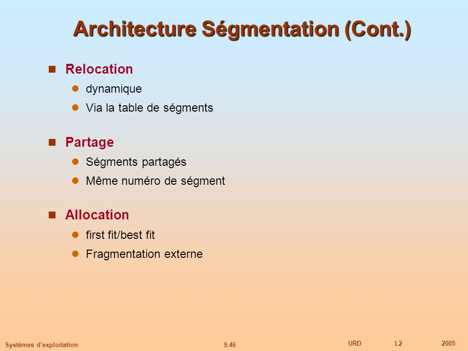 Architecture Ségmentation (Cont.)