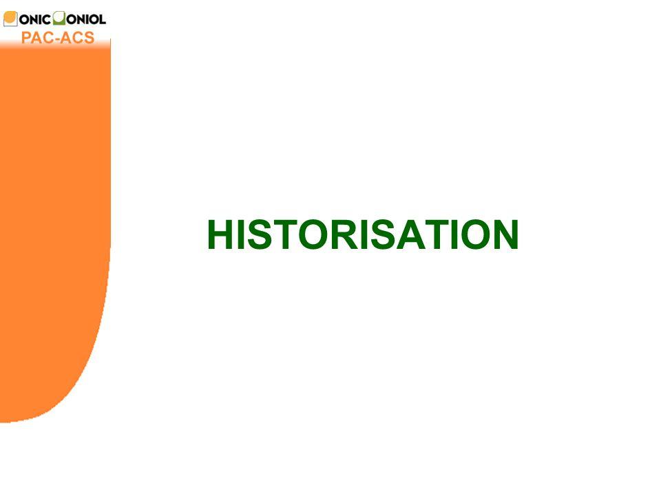 HISTORISATION