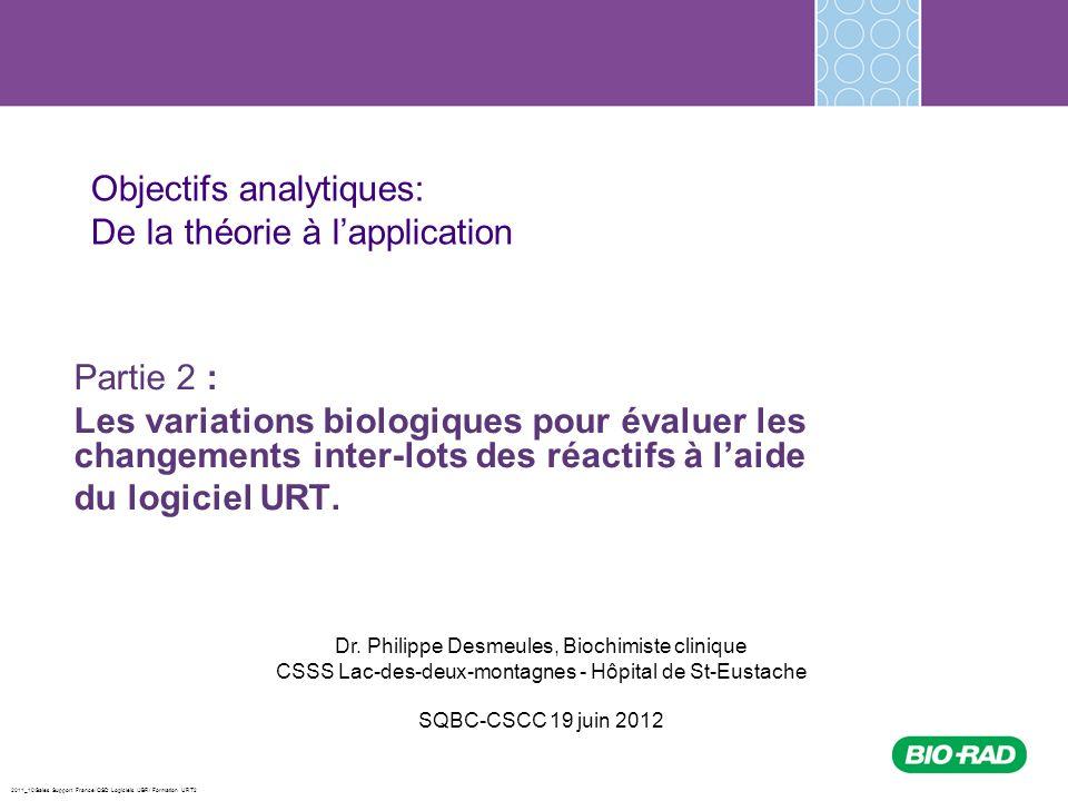 Objectifs analytiques: De la théorie à l'application