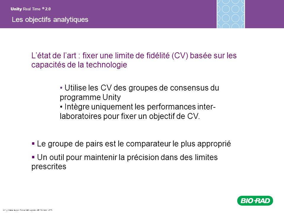 Utilise les CV des groupes de consensus du programme Unity