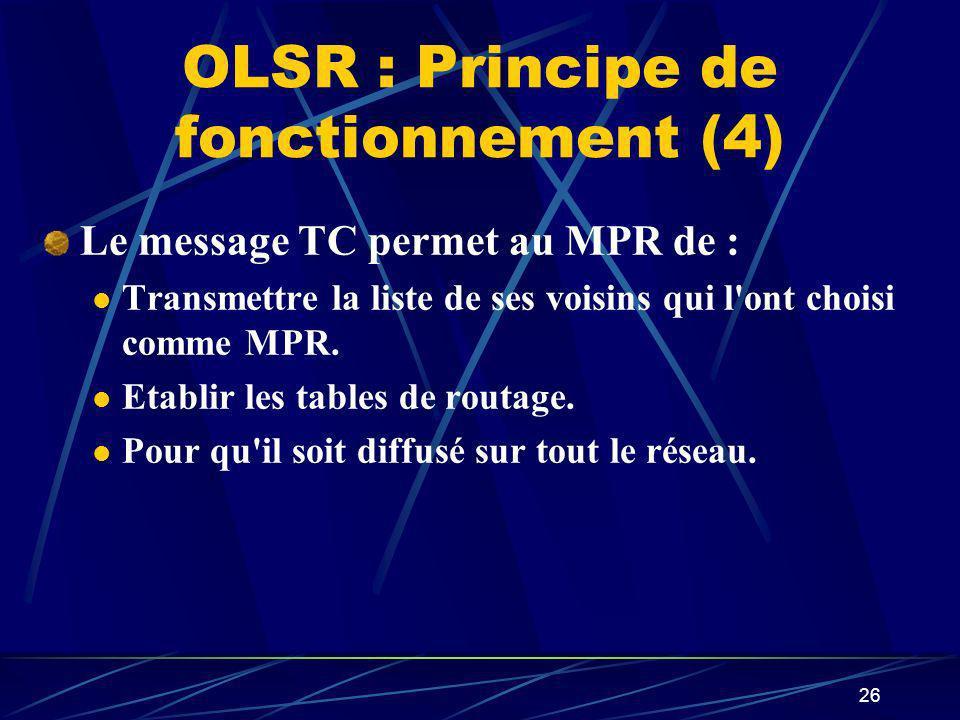 OLSR : Principe de fonctionnement (4)