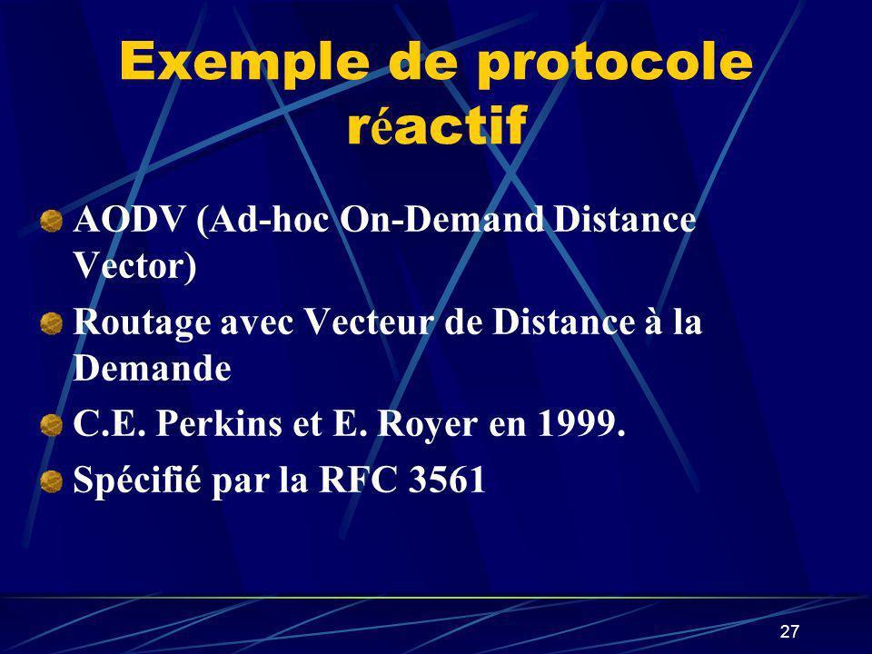 Exemple de protocole réactif