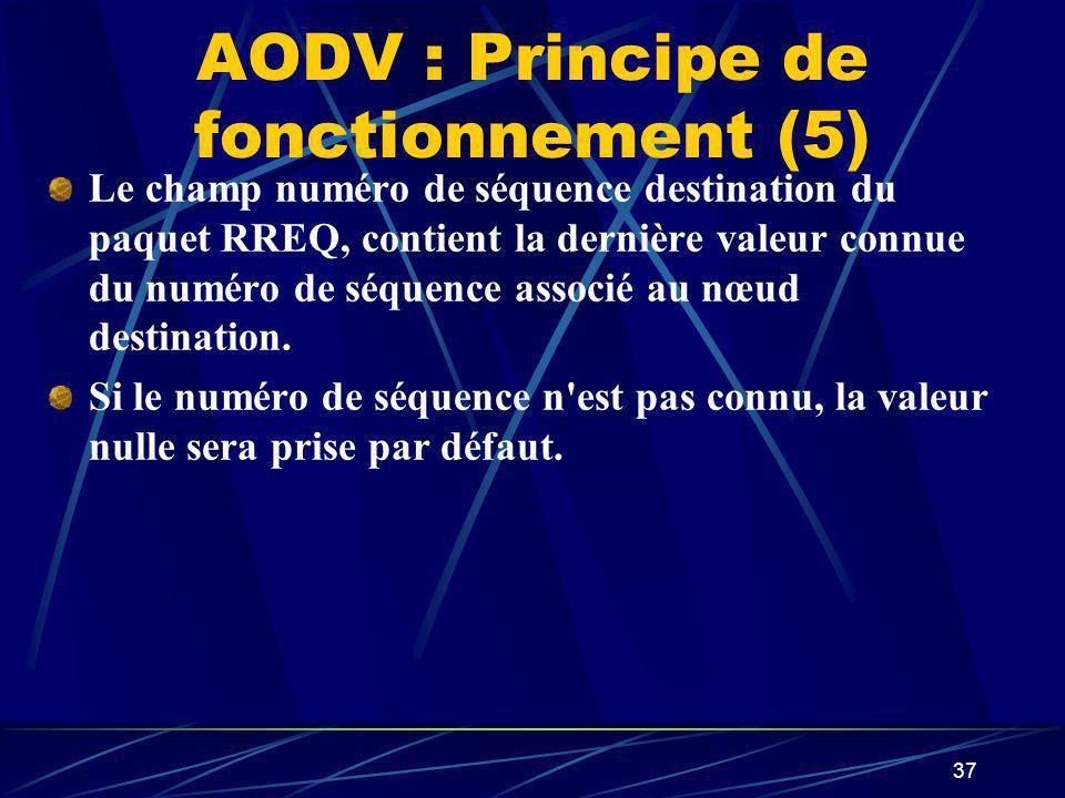 AODV : Principe de fonctionnement (5)