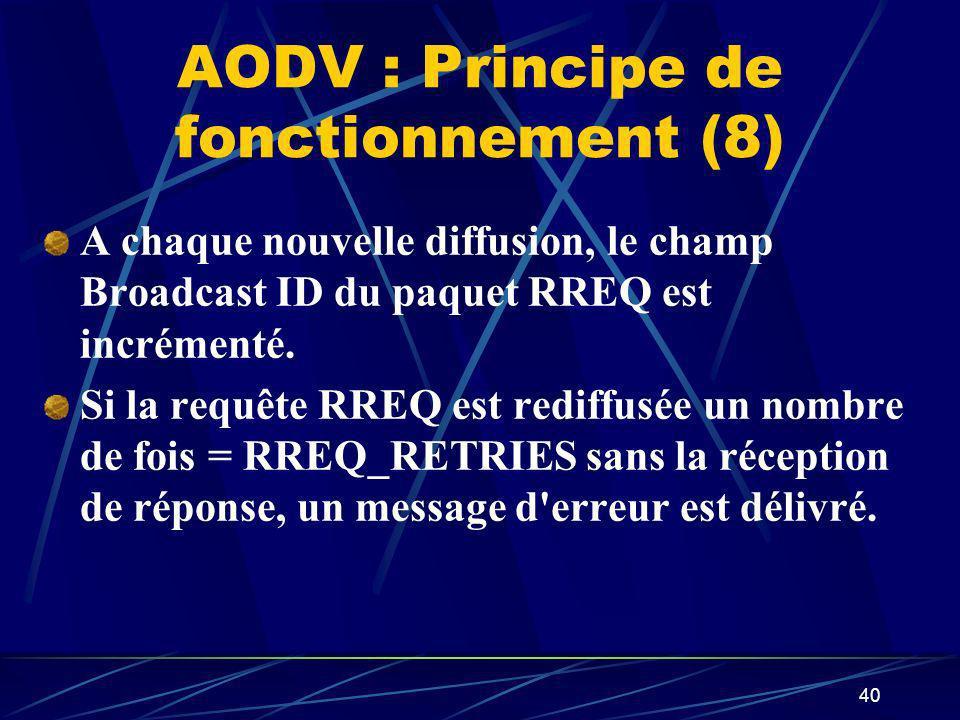 AODV : Principe de fonctionnement (8)