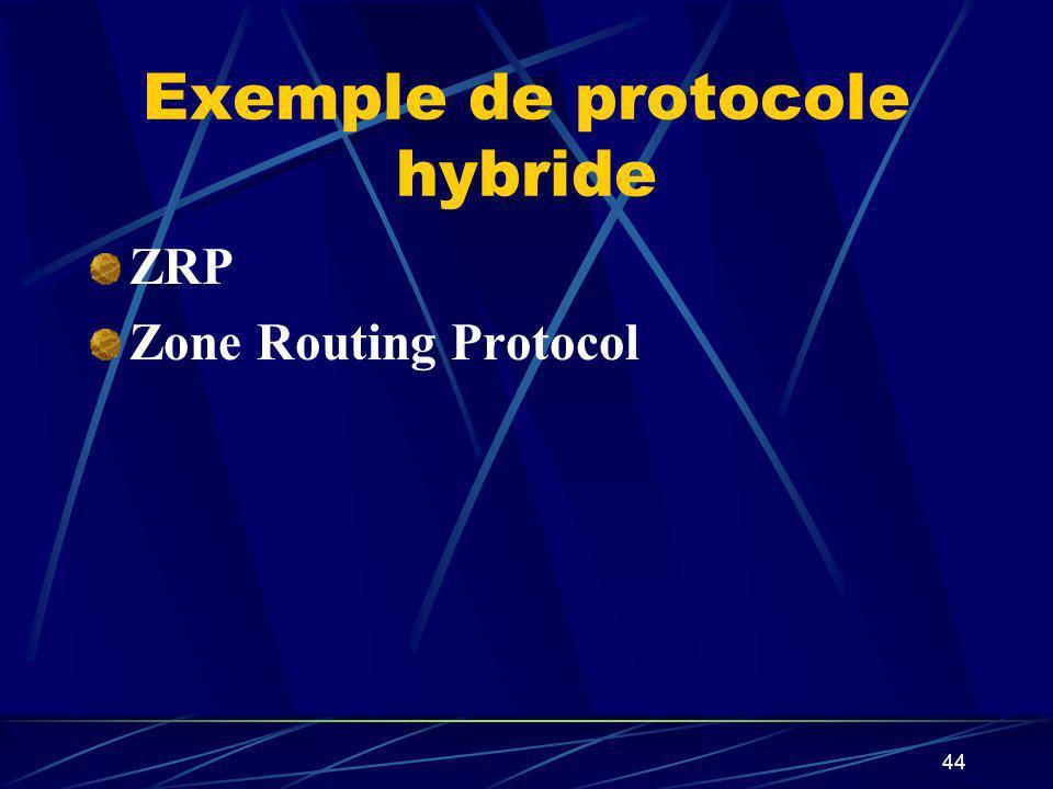 Exemple de protocole hybride