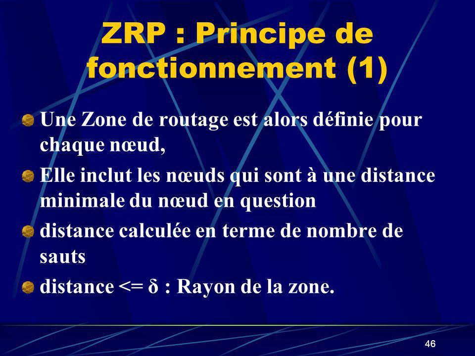 ZRP : Principe de fonctionnement (1)