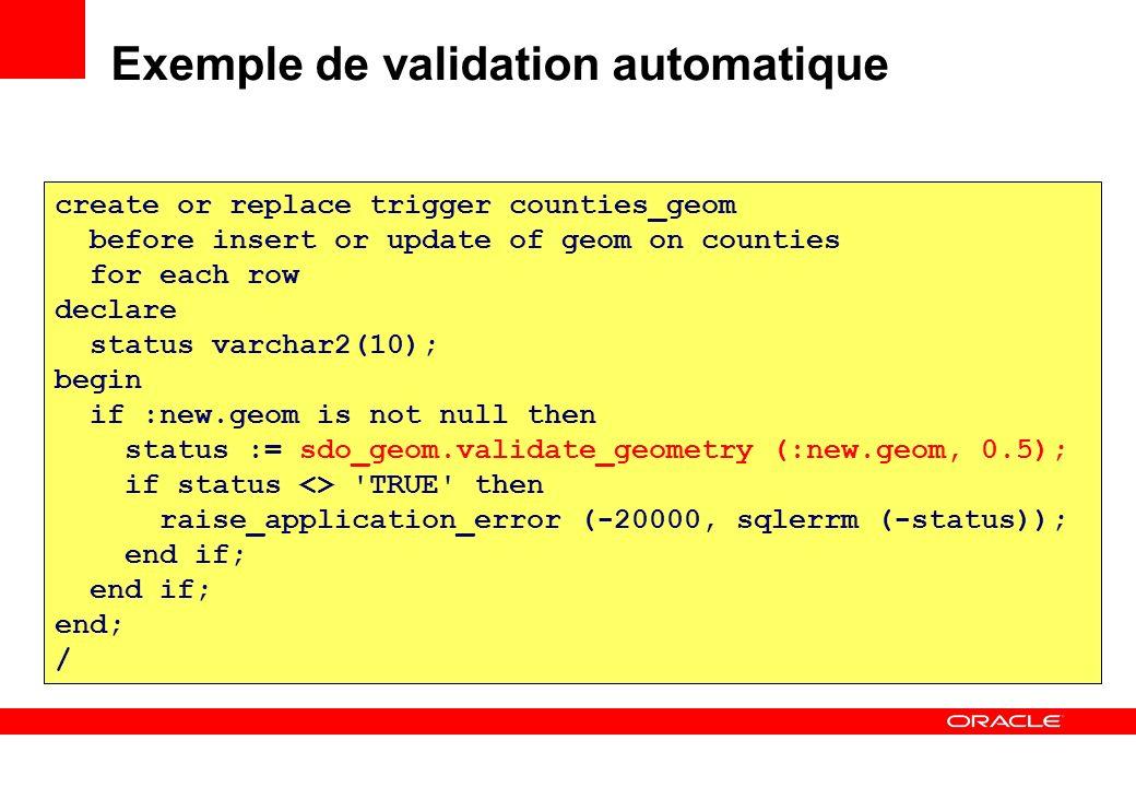 Exemple de validation automatique