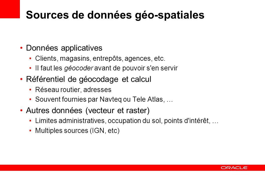 Sources de données géo-spatiales