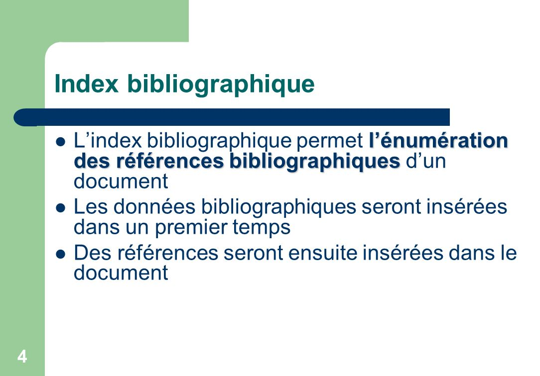 Index bibliographique