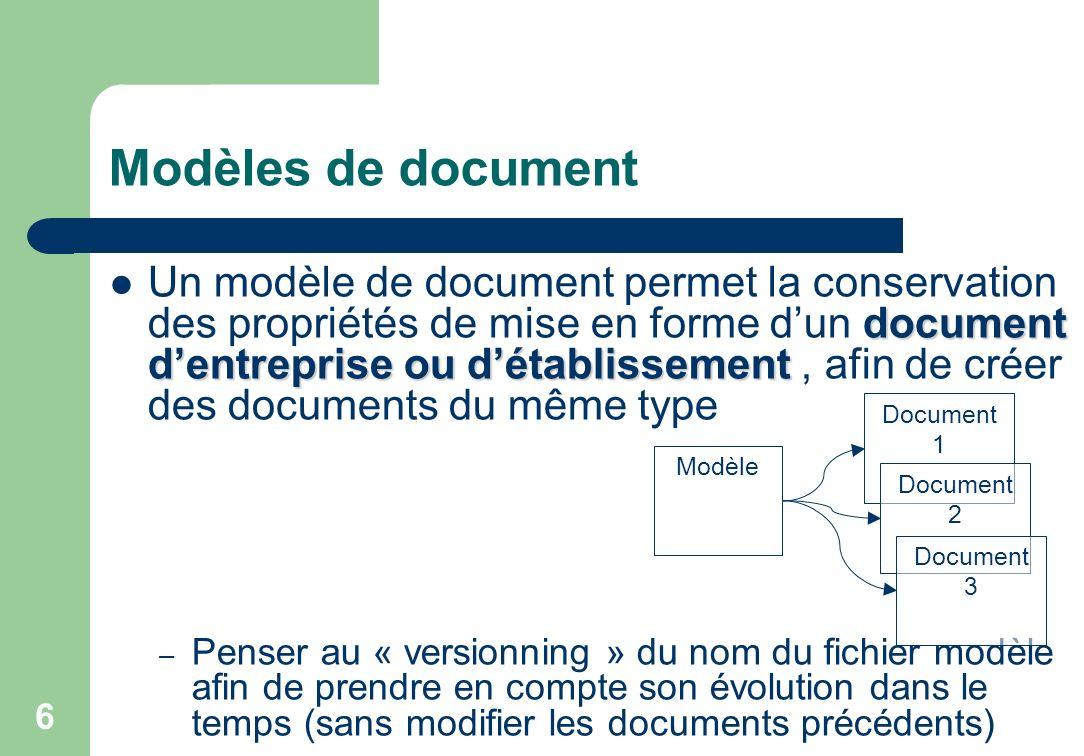 Modèles de document