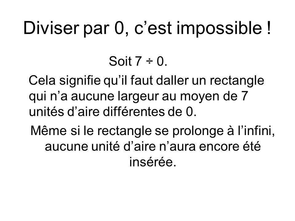Diviser par 0, c'est impossible !