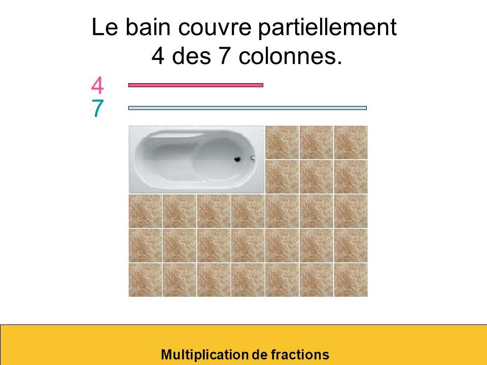 Le bain couvre partiellement 4 des 7 colonnes.