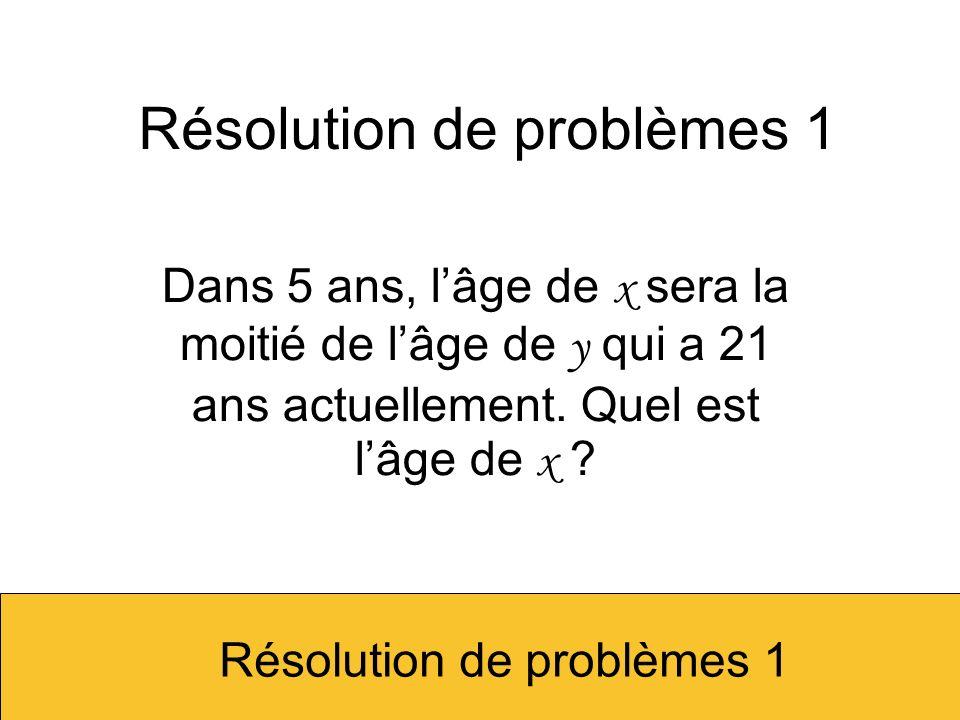 Résolution de problèmes 1