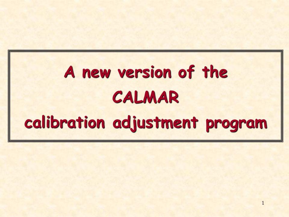A new version of the CALMAR calibration adjustment program